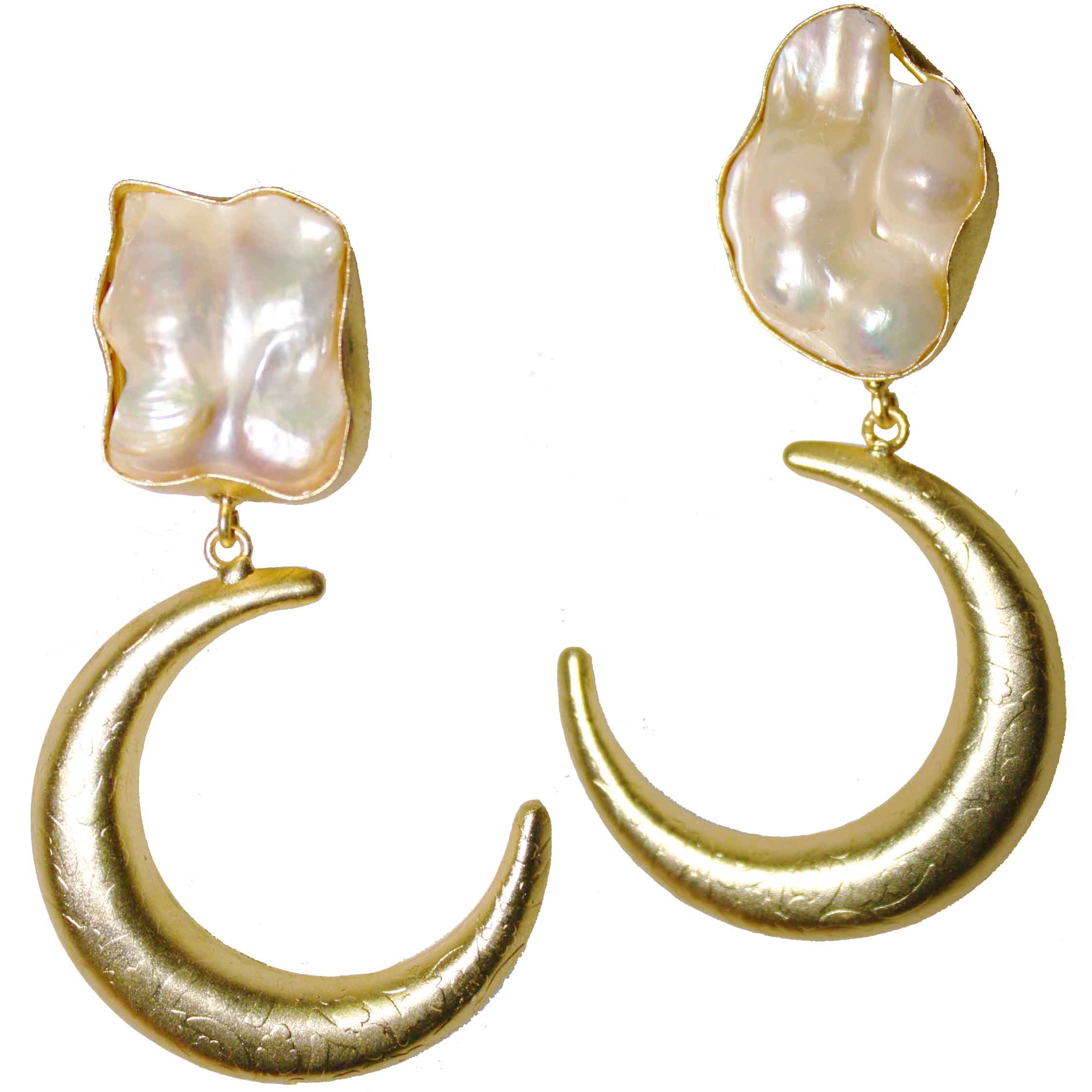 earrings product werner gold fleischer moon